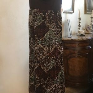 Anthropologie skirt, mixed colors, size small